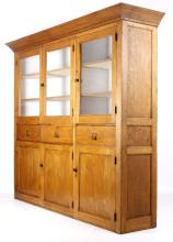 Early Mercantile Haberdashery Cabinet w/ Beadboard