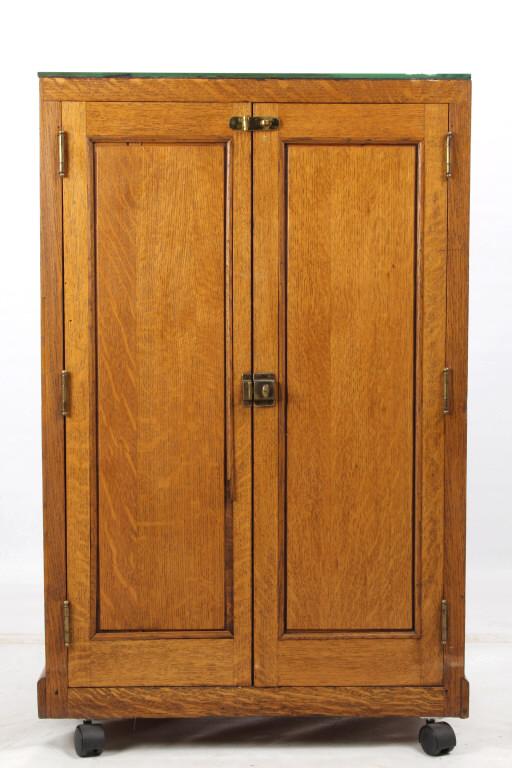 Antique Mercantile Cigar Store Humidor Cabinet