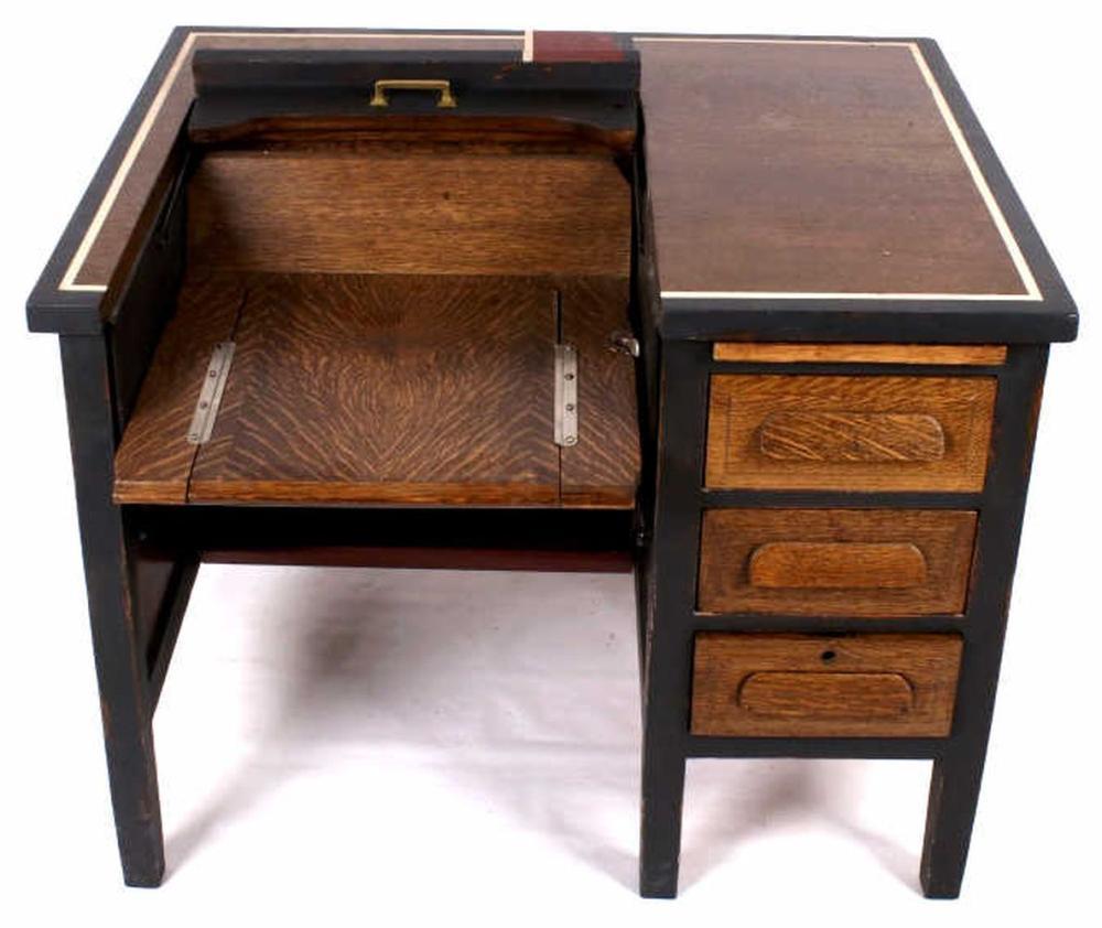 Peachy Antique Oak Typewriter Desk Download Free Architecture Designs Embacsunscenecom