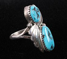Navajo Sterling Silver & Turquoise Ring This is a