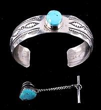 Navajo Silver & Turquoise by Pieces Leroy Sandoval