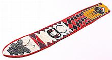 Yoruba Totem Beaded Strip This piece is hand made