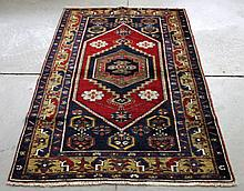 Yahyalý Anatolian Persian Rug circa 1950's This is