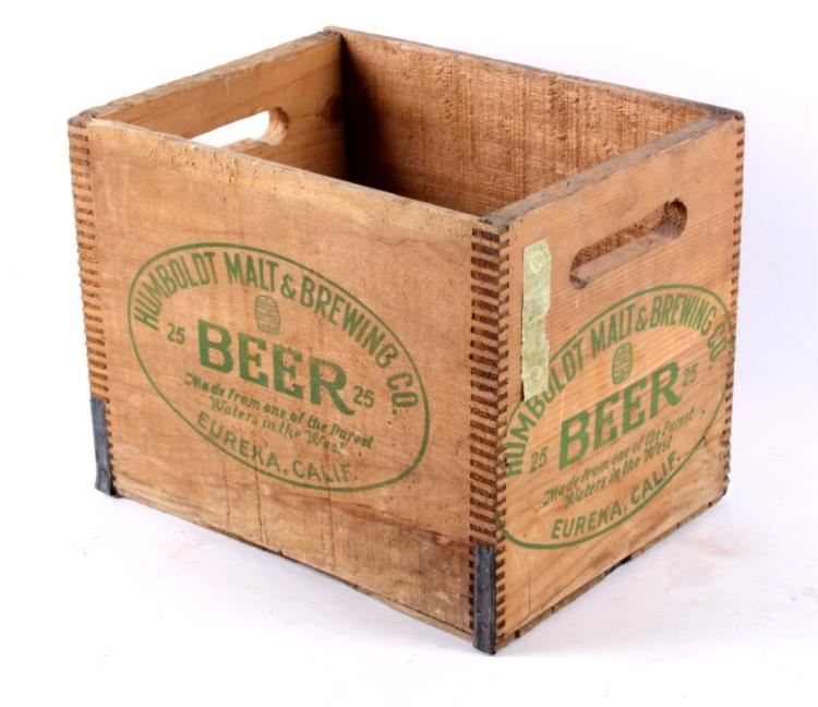 Antique Humboldt Malt Brewing Co Beer Box