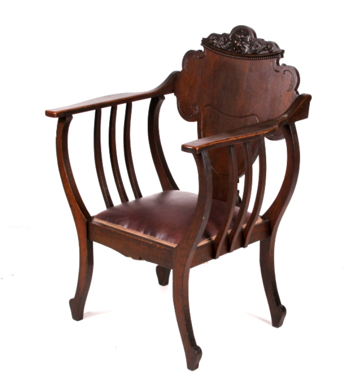 Man of the north wind carved accent chair