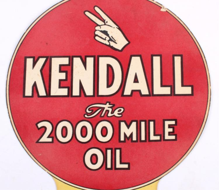Kendall motor oil rare paper advertisement for Kendall motor oil distributors