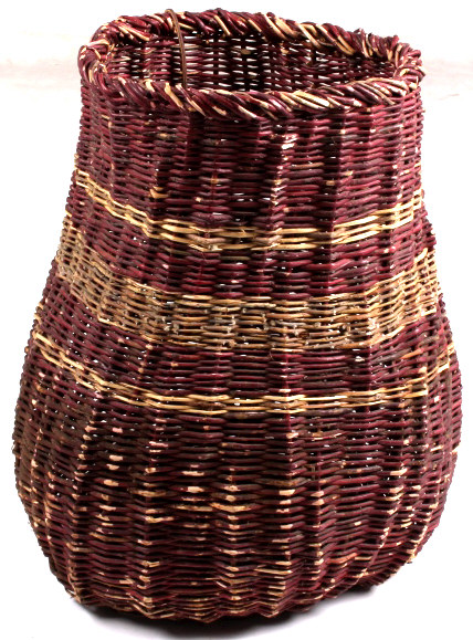 Basket Weaving With Willow Branches : Apache willow branch woven basket