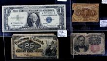 Early American & Canadian Currency Collection This