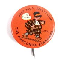 1920's Anaconda Standard Premium Button This reads