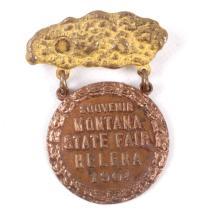 1904 Montana State Fair Helena Badge This is a tru
