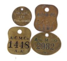 1890-1920's Anaconda Mining Tags or Chincks