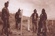 Here Custer Fell 1913 Etching by Rodman Wanamaker