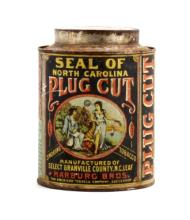 Seal of North Carolina Plug Cut Tobacco Tin This i