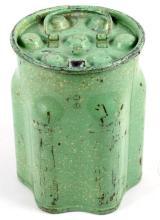 Green Graniteware Beer or Soda Bottle Carrier This