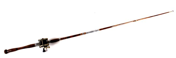 Vintage montague stone harbour bamboo fishing rod for Antique bamboo fishing rods