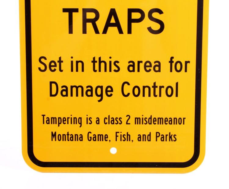 Montana Game Fish Parks Bear Trap Sign