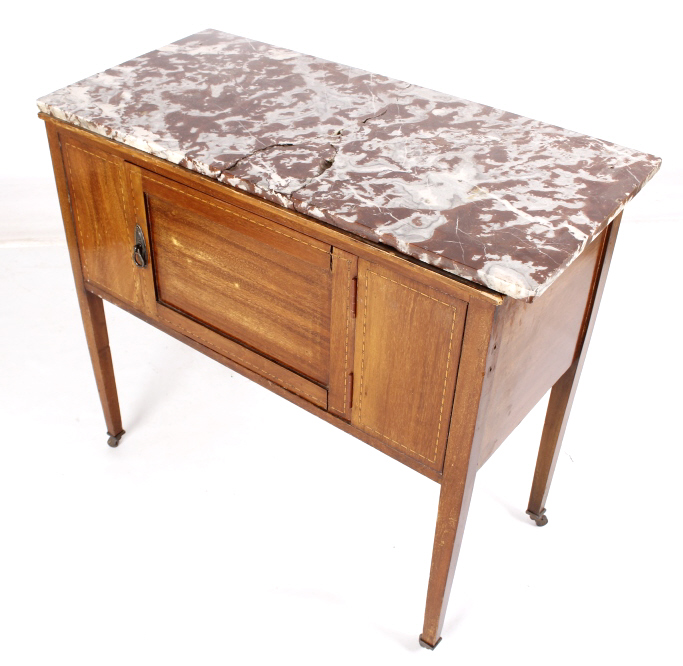 Foyer Table With Marble Top : Early marble top record table or foyer