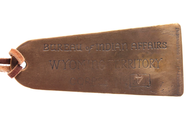 bureau of indian affairs wyoming territory tag. Black Bedroom Furniture Sets. Home Design Ideas