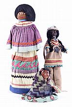 Navajo Mud Head, Straw Doll, & Sitting Doll 1930's