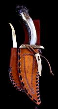 Bob Schopp Knife and Bodean Sheath Helena, MT This