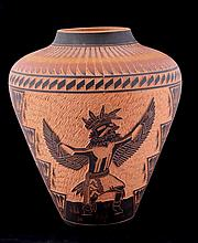Acoma Carved Large Vase This is Acoma Pueblo Nativ