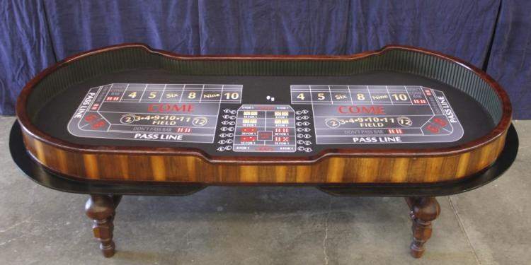 Union plaza hotel craps table from las vegas for American home furniture las vegas
