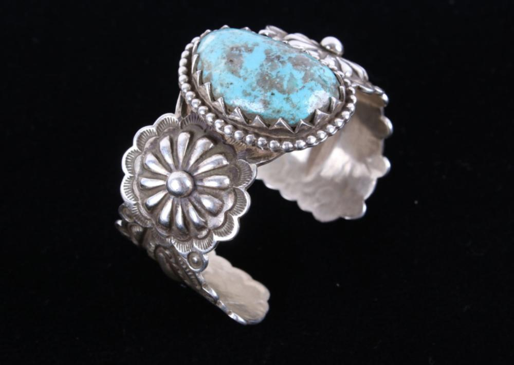 Mountain Ring size 6- porcelain and turquoise