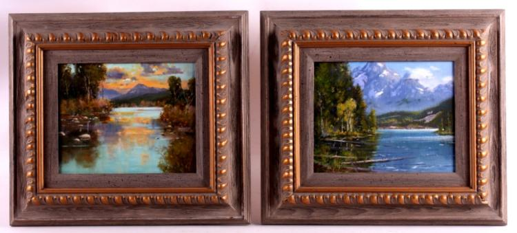 Steve Scott Framed Oil Paintings This is a pair of