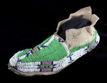 Sioux Native American Beaded Moccasin c.1890