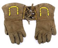 Blackfoot Native American Beaded Leather Gauntlets