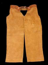 Montana Tooled Leather Shotgun Chaps