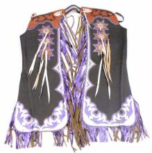 Extravagant Custom Leather Batwing Rodeo Chaps