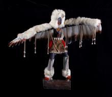 Large Hopi Eagle Dancer Kachina by Bertha Benally