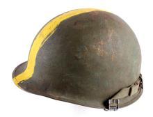 U.S. M1 Steel Helmet w/ Liner Field Painted