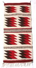 Navajo Ganado Pattern Wool Trade Rug Mid 20th C.