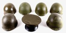 Collection of M1 Helmet Liners & USMC Cover