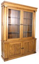 Marcus Daly Oak Mercantile Cabinet 19th-20th C.