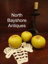 New England Paint Decorated Stone Fruit Yellow Apples 1800s