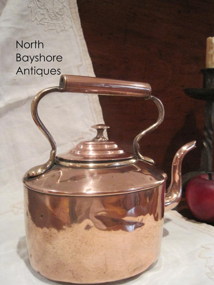 Dovetailed Diminutive Copper Tea Kettle Pot 1800s
