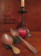 Colonial Hand Carved Wooden Eating Spoons Ca 1700s