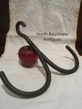 Colonial Open Hearth Wrought Iron Hanging Pot or Game Hook 1700s