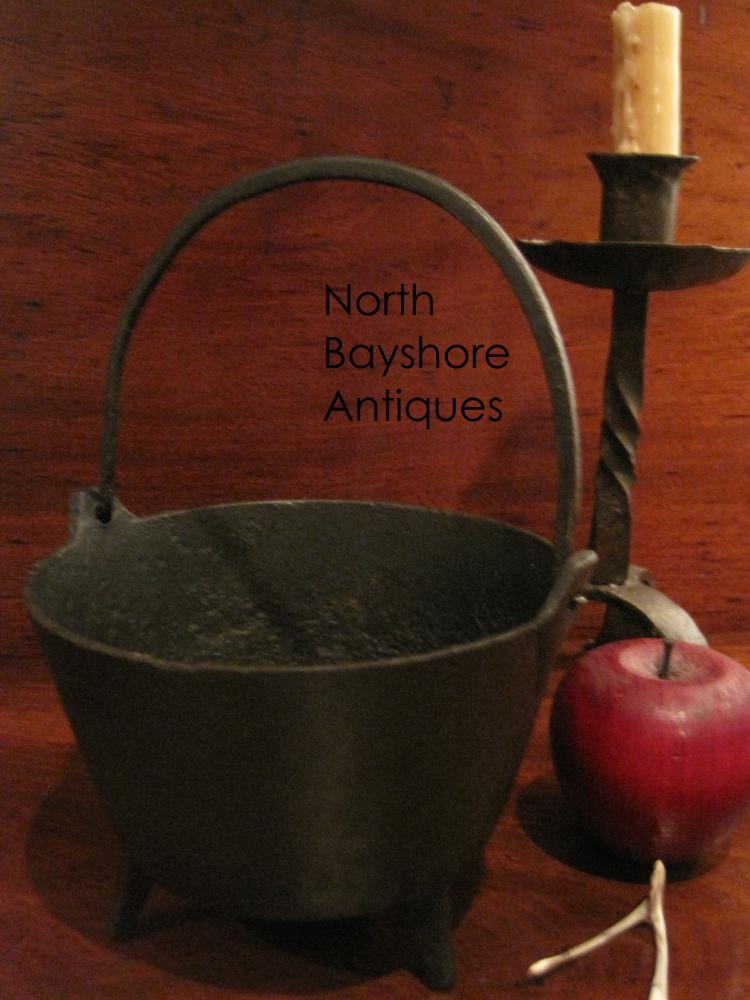Cast Iron Miniature Cauldron with Gatemark Ca 1700s