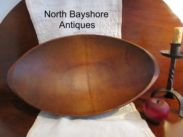 New England Cherry Wooden Hand Hewn Trencher Bowl 1800s