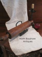 New England Hand Turned Cherry Wood Rolling Pin 1800s