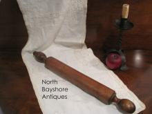 New England Sailor Handmade Walnut Rolling Pin 1820s