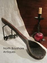 New England Native American Indian Folk Art Effigy Ladle 1800s