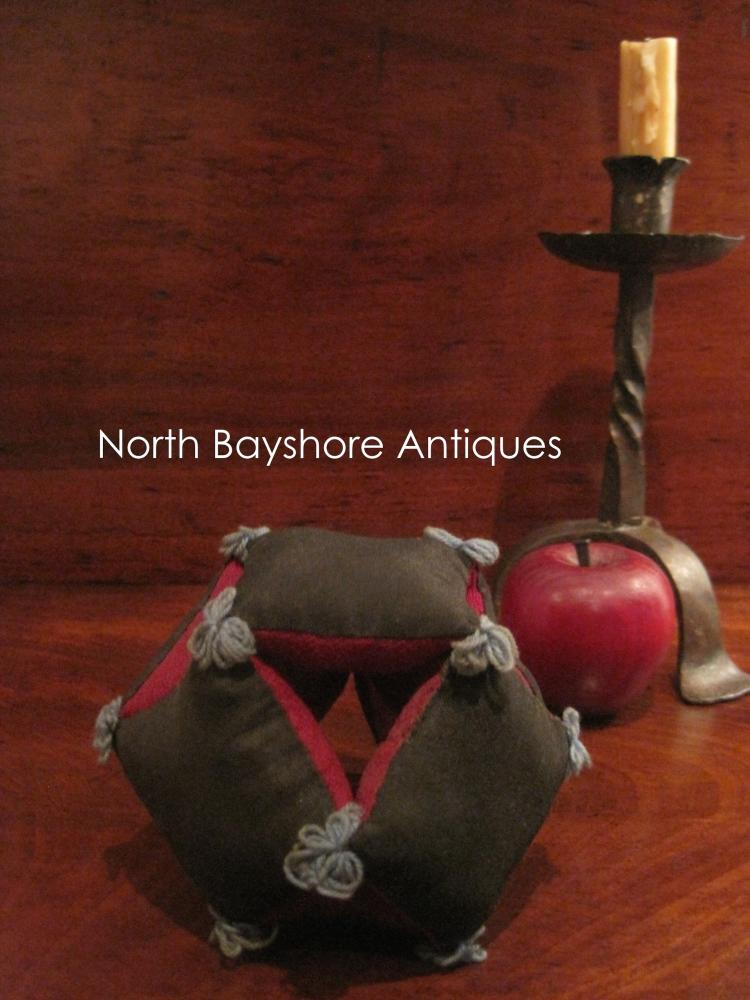 Folk Art Amish Puzzle Sewing Thread Pincushion 1800s