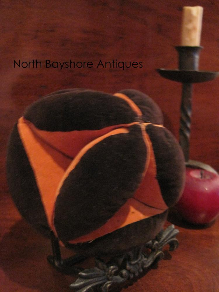 Folk Art Amish Puzzle Sewing Thread Pincushion 1800s
