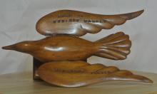 Lot 9: An interesting Pitcairn Island carved wooden bird