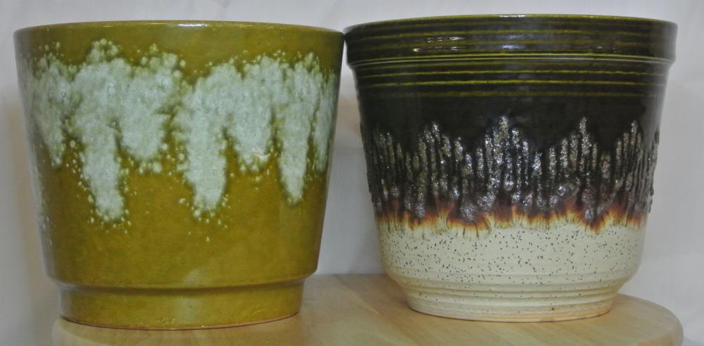Lot 24: A collection of 2 vintage Western German 'Fat Lava' ceramic planters